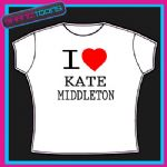 I LOVE HEART KATE MIDDLETON TSHIRT
